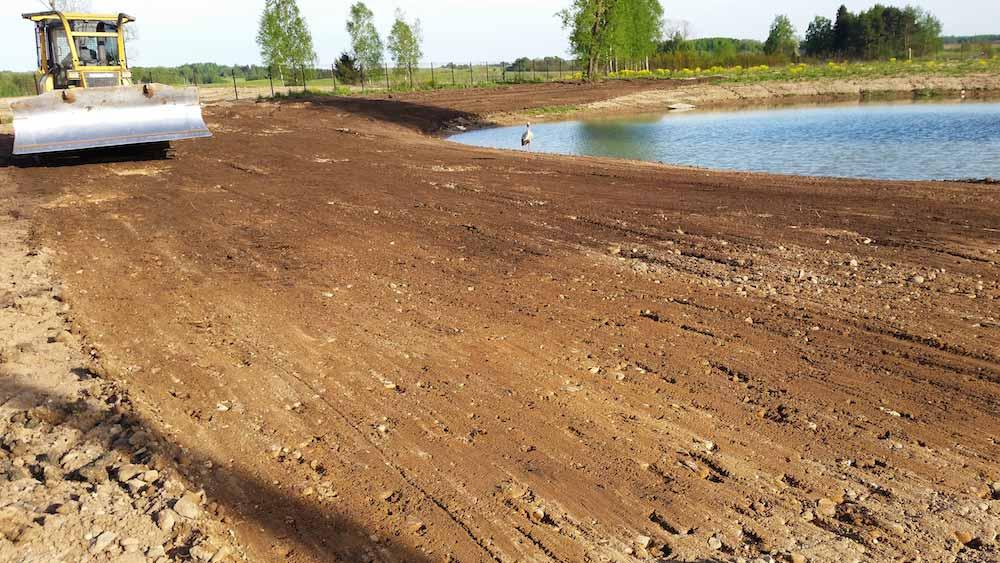 Tvenkinių kasimas nuo 20 a, landšafto formavimas